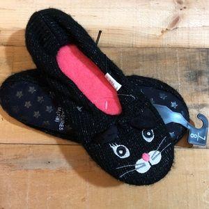5/$15 Black Cat Slipper Socks medium 7-8